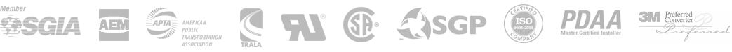 Professional affiliations include SGIA, AEM, APTA, TRALA, RU, CSA, SGP, ISO, PDAA, 3M